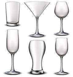 Empty glass set vector image vector image