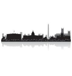 Washington USA city skyline silhouette vector image vector image