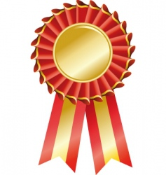 award seal rosette vector image vector image