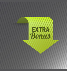 colorful website extra bonus arrow button design vector image