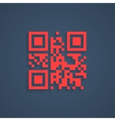 encrypted lorem ipsum text in red qr code vector image