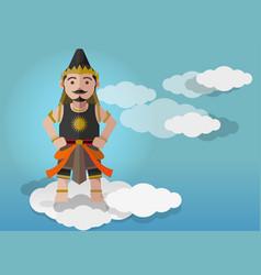 gatutkaca puppet characters vector image vector image
