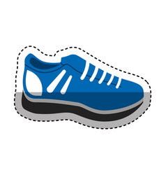 tennis shoes isolated icon vector image