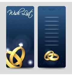 Wedding wish list design vector image