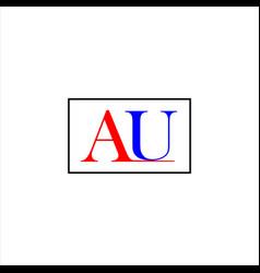 A u letter logo vintage designa u letter logo vector