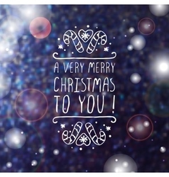 A very merry christmas to you - typographic vector