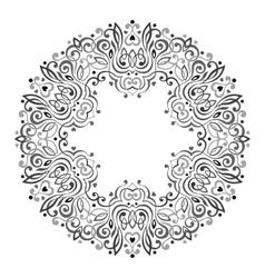 Abstract ornate mandala decorative frame vector