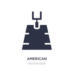 American football field icon on white background vector