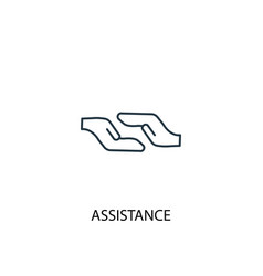 assistance concept line icon simple element vector image