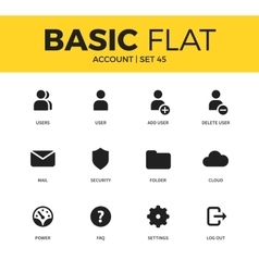 Basic set of Account icons vector