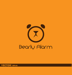 bearly alarm logo vector image