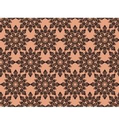 Black lace pattern vector
