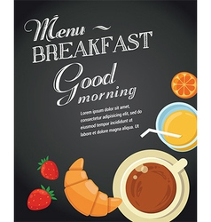 Breakfast menu template vector