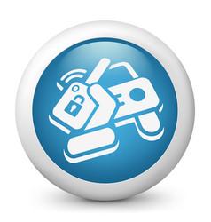 Car remote control key vector