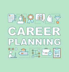 Career planning word concepts banner vector