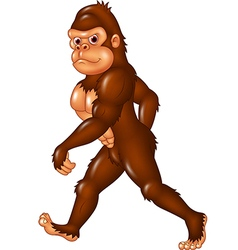 Cartoon funny Sasquatch walking vector image