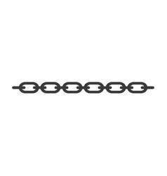 chain steel icon design vector image