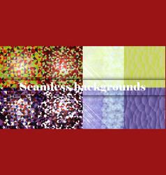 Collection of seamless ornamental patterns vector
