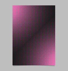 Color halftone dot pattern flyer template - vector