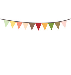 Colored bunting party decoration festive flags vector