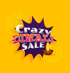 Crazy diwali sale background design vector
