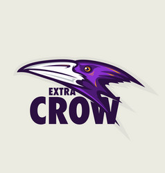 crow head mascot vector image