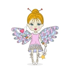 Cute cartoon Fairy vector