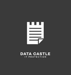 data castle logo vector image