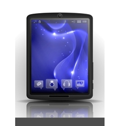 Digital Tablet Pc With Blue Screen vector image