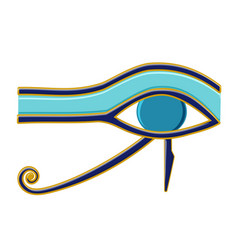 Egyptian eye of horus symbol religion and myths vector
