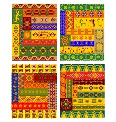 Ethnic abstract pattern in african style vector