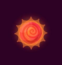 Fantasy sun logo vector