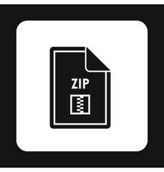 File ZIP icon simple style vector image