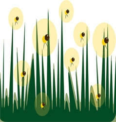 Fireflies vector