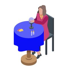 Fortune teller icon isometric style vector
