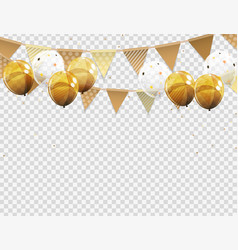 Group of colour glossy helium balloons with blank vector