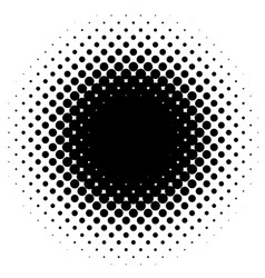 halftone element circular halftone pattern specks vector image