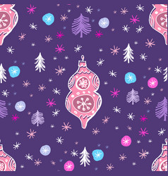 Hand drawn Christmas pattern vector