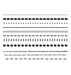 hand drawn line borders vector image