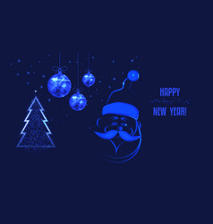 happy new year for christmas project santa claus vector image