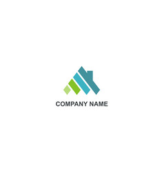 Home abstract construction company logo vector