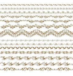 horizontal elements decoration vector image