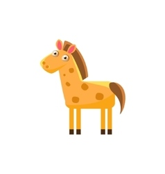 Horse Simplified Cute vector