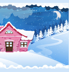 House covered with snow vector
