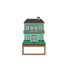 house with two floors and balcony vector image vector image