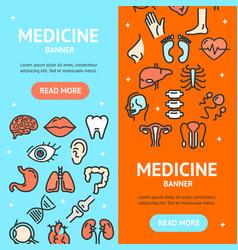human organs signs banner vecrtical set vector image