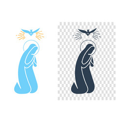 Icon annunciation virgin mary vector