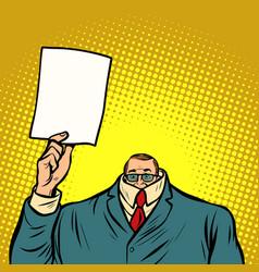 Information help cowardly businessman business vector