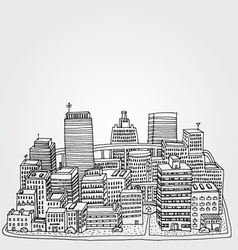 Just a Sketch of a Big City vector image