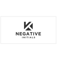 K negative space logo design inspiration vector